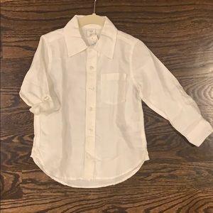NWT Baby GAP 4Yr Boys Linen Button Down Shirt